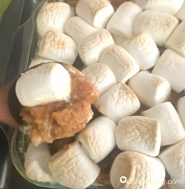 Marshmallow Yams - sweet, buttery, and vegan friendly! I abrikliving.com