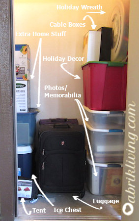 Holiday Decor and Outdoor Storage Organization - For small spaces | abrikliving.com