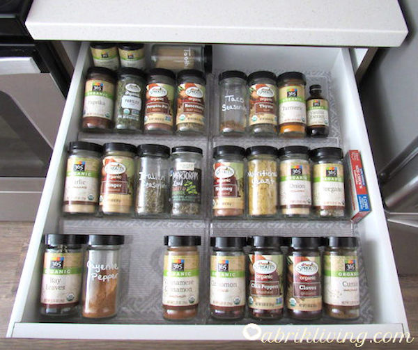 Spice Drawer Tips and Organization | abrikliving.com