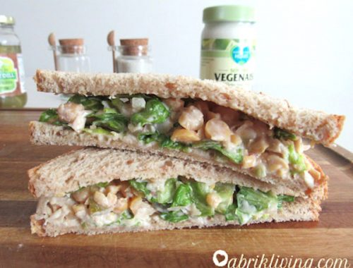 Chickpea Salad Sandwiches - Quick and Easy | abrikliving.com
